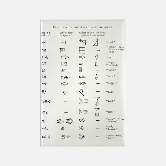 Evolution of cuneiform writing Rectangle Magnet