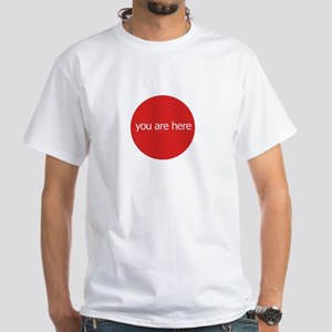 YOU ARE HERE Men's White T-Shirt