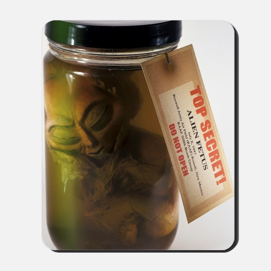 Alien in a jar, Roswell, New Mexico Mousepad
