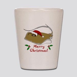 Christmas Stingray Shot Glass