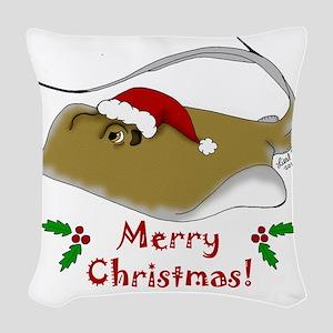 Christmas Stingray Woven Throw Pillow