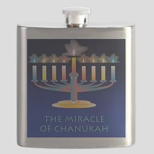 Chanukah Menorah Miracle Flask
