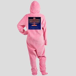Chanukah Menorah Miracle Footed Pajamas
