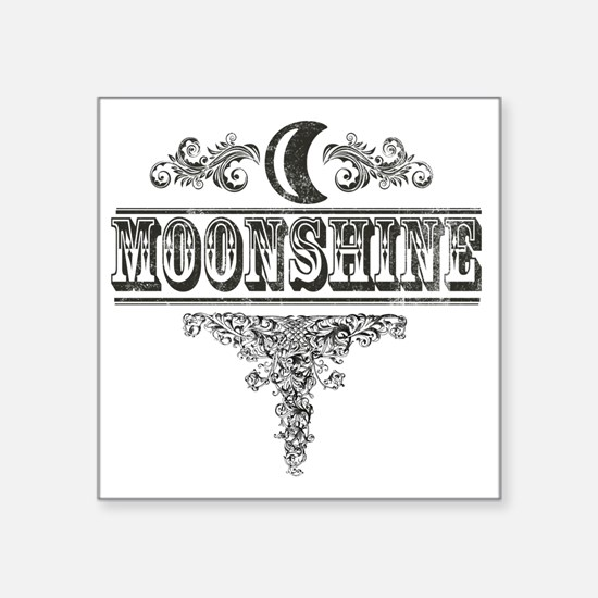 "Moonshine Square Sticker 3"" x 3"""
