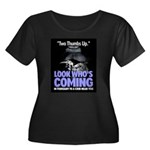 Look Whos Coming in February Women's Plus Size Sco