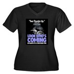 Look Whos Coming in March Women's Plus Size V-Neck