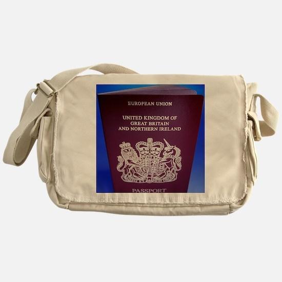 British passport Messenger Bag