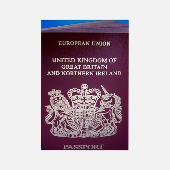 British passport Rectangle Magnet