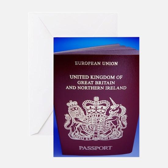 British passport Greeting Card