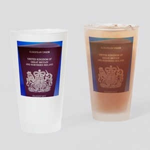 British passport Drinking Glass