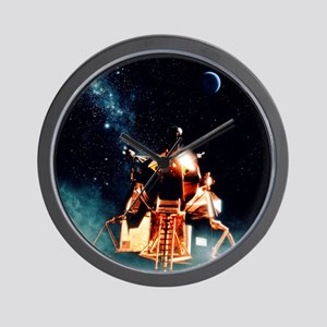 Artwork of Apollo 11 lunar module on th Wall Clock
