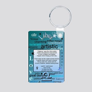 LIBRA BIRTHDAY Aluminum Photo Keychain