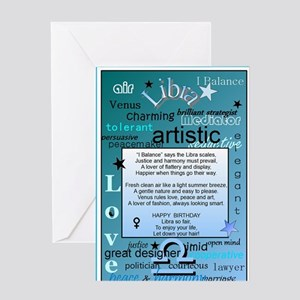 LIBRA BIRTHDAY Greeting Card