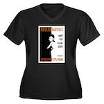 Babyface June Women's Plus Size V-Neck Dark T-Shir