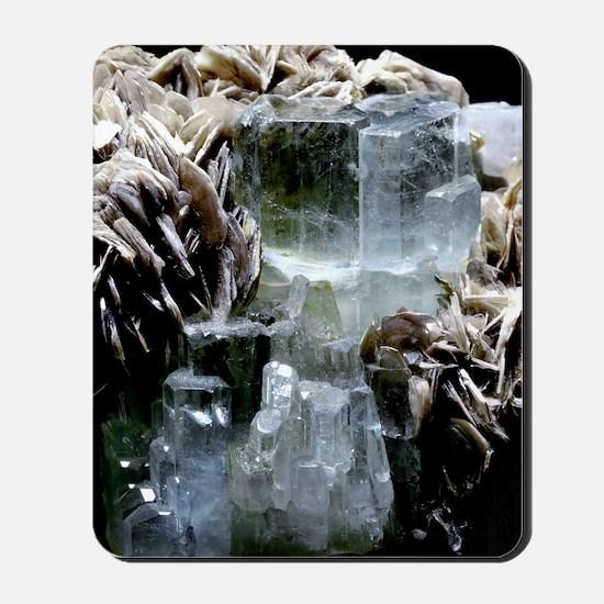 Aquamarine crystals Mousepad