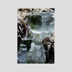 Aquamarine crystals Rectangle Magnet
