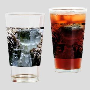 Aquamarine crystals Drinking Glass