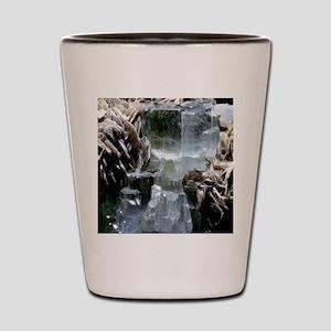 Aquamarine crystals Shot Glass