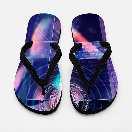 Biometric fingerprint Flip Flops