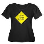 Baby Bump Below Women's Plus Size Scoop Neck Dark