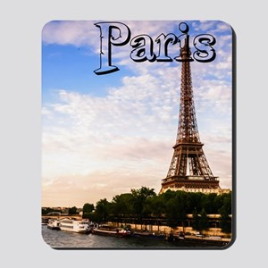Paris_5.5x8.5_Journal_SunsetOnSeineRiver Mousepad