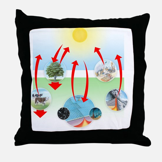 Carbon cycle Throw Pillow