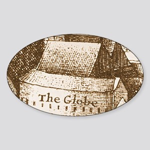 globetheatre2-men Sticker (Oval)
