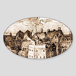 globetheatre3-men Sticker (Oval)