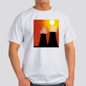 Cooling towers at sunset, artwork Light T-Shirt