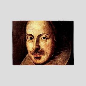 Shakespeare Portrait 5'x7'Area Rug