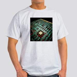 Circuit board from a mainframe compu Light T-Shirt