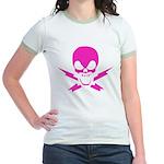 Lightning Bolt Jolly Roger Jr. Ringer T-Shirt
