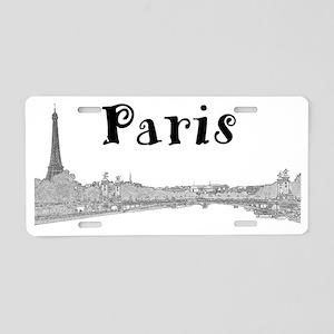 Paris_PontAlexandre_Black Aluminum License Plate