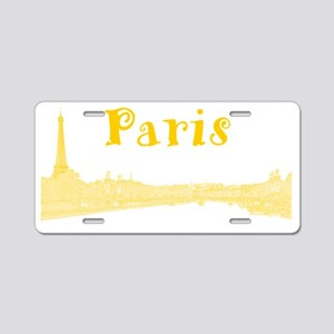 Paris_PontAlexandre_Yellow Aluminum License Plate