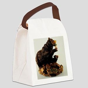 The bear Canvas Lunch Bag