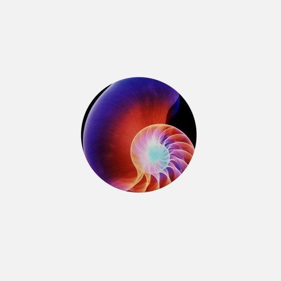 Coloured X-ray of the Nautilus shell Mini Button