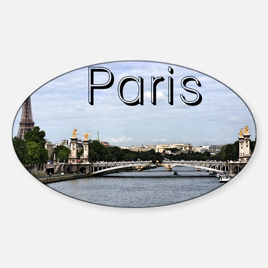 Paris_10X8_puzzle_mousepad_Pont Ale Sticker (Oval)