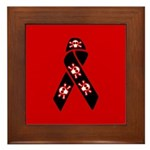 Pirate Awareness and Support Ribbon Framed Tile
