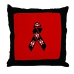 Pirate Awareness and Support Ribbon Throw Pillow