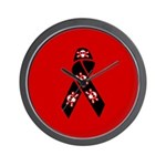 Pirate Awareness and Support Ribbon Wall Clock