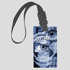Computer surveillance Large Luggage Tag