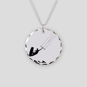 Kitesurfing-AA Necklace Circle Charm
