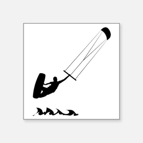 "Kitesurfing-AA Square Sticker 3"" x 3"""