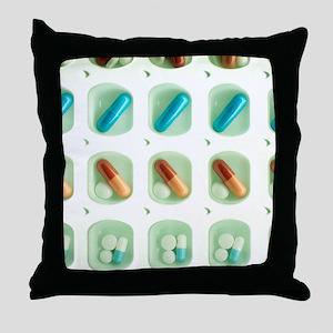 Pill organiser Throw Pillow