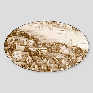 globetheatre1-men Sticker (Oval)
