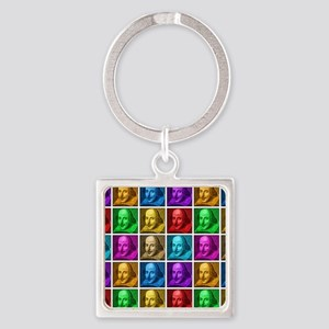 Pop Art Shakespeare Square Keychain