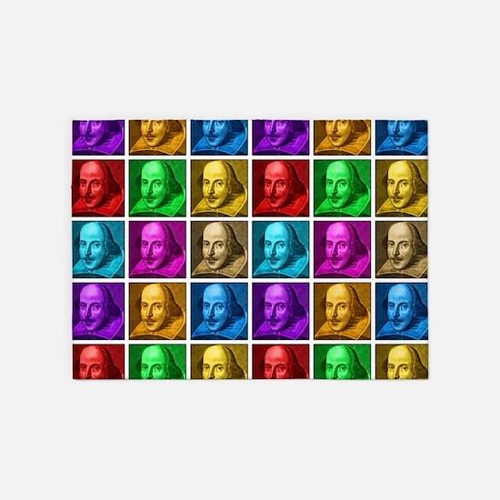 Pop Art Shakespeare 5'x7'Area Rug