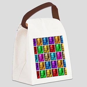 Pop Art Shakespeare Canvas Lunch Bag