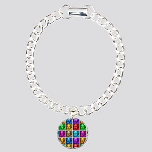 Pop Art Shakespeare Charm Bracelet, One Charm