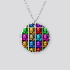 Pop Art Shakespeare Necklace Circle Charm